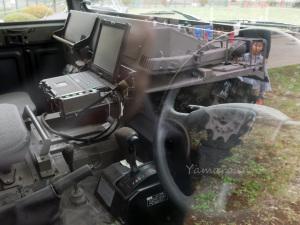 中距離多目的誘導弾の車内