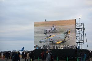 百里基地航空祭の大型ビジョン