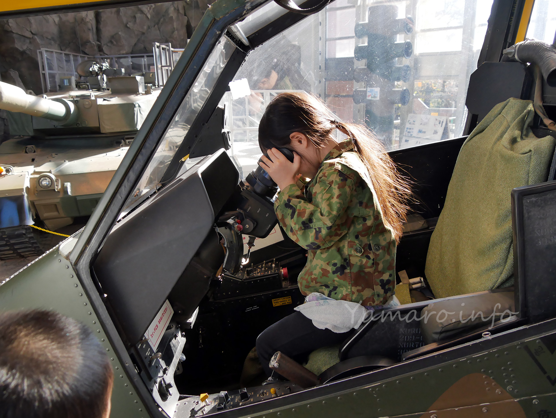 AH-1Sコブラのガナー席