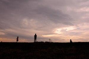 曇天だったので夕焼け風に仕上げてみた