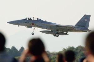 帰投するF-15DJ