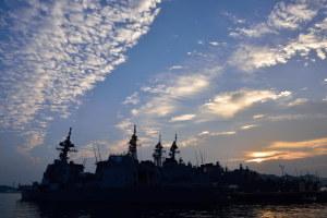 早朝の横須賀