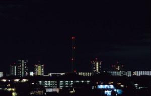 自宅からの風景を8秒露光